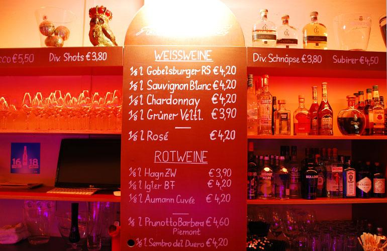Getränke - Anette Bar
